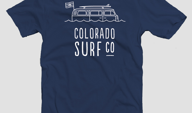 Colorado Wild Fire Tees' New Colorado Surf Club Shirt