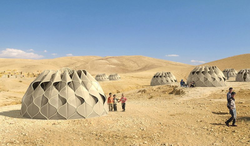 This Futuristic Tent Catches Rainwater and Solar Energy