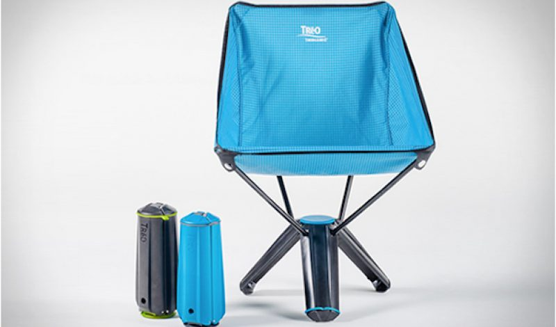 This Camping Chair Stores Itself in its Own Legs